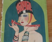 Antique Theatre Magazine Cover Flapper Style December 1923