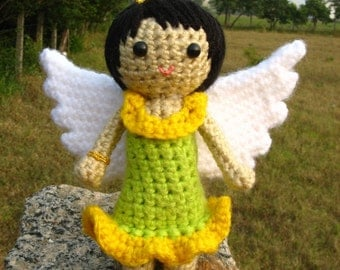 Amigurumi Garden Fairy Crochet pattern PDF children's softie toy handmade girl doll plush DIY Tutorial