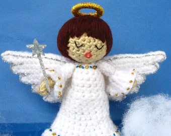 Amigurumi Angel Crochet Pattern PDF christmas tree decor handmade fairy doll making homemade gift idea tutorial