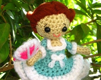 Amigurumi Girl crochet pattern PDF children's handmade gift doll making tutorial