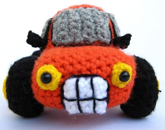 Amigurumi Truck crochet pattern PDF childrens softie handmade plush toy pickup DIY tutorial