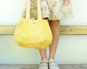 RESERVED - Day and Night - Reversible Bag - Sunny Yellow and Vanilla Cream