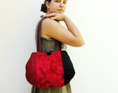 Day and Night - Reversible Bag - Patchwork - Red and Black