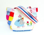Dutch Farmers Love Bag - Vintage Embroidery and Patchwork (last one)