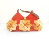 Lotus Flower Bag - Manipulated Vintage Fabric