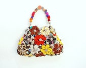 Orinuno Bag - Handfolded and Sewn Flowers - StarBags