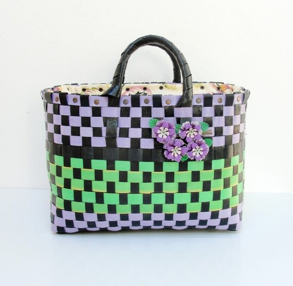 The Cutest Bag - Lila, Green and Black