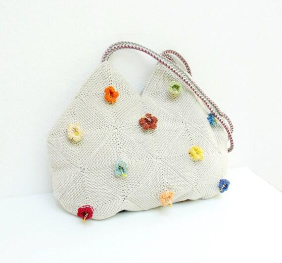 Campanula - Crochetted Bamboo Flower Bag