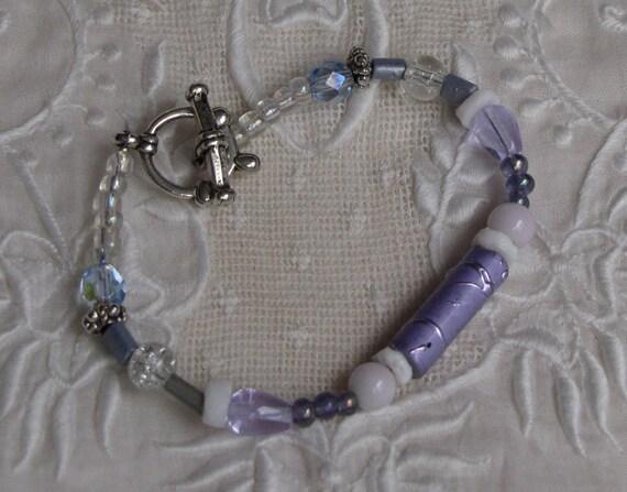 Lavender Focal Bead Bracelet
