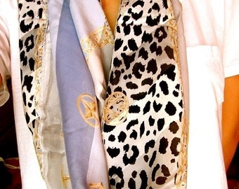 your daily leopard // silk scarf // large