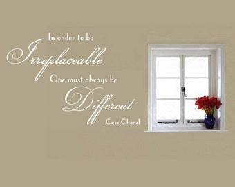 Vinyl Wall Lettering Irreplaceable One Must Different Quote Coco