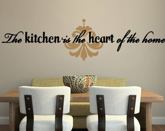 WALL DECAL ART The Kitchen is the Heart of the Home  Large