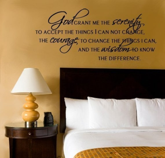 Wall Decal SERENITY PRAYER Vinyl Wall Quote