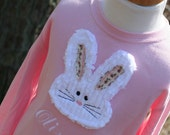 Personalized Shabby Chic Easter Bunny Shirt
