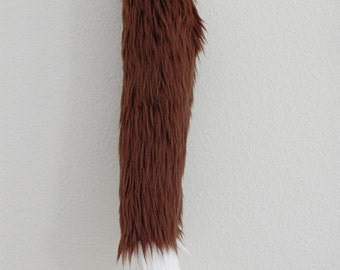 Faux Fur Fox Tail - Brown - Cosplay / Furry / Costume