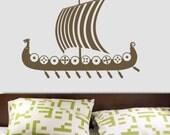 Viking Dragon Ship (Drekkar) Vinyl Wall Decal Sticker Graphic by DECOmodwalls