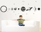 COMPLETE SOLAR SYSTEM Vinyl Decal Graphic by DecoMOD Walls huge 10 feet