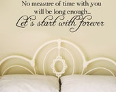 Edward's Toast to Bella Twilight Breaking Dawn saying Decor Vinyl Wall Decal Graphic