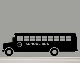 School Bus Vinyl Decal Lettering Original Graphic by Decomod Walls