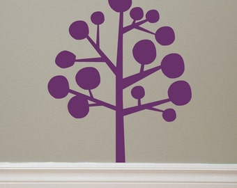 Modern Tree Vinyl Decal ORIGINAL graphic lettering by Decomod Walls