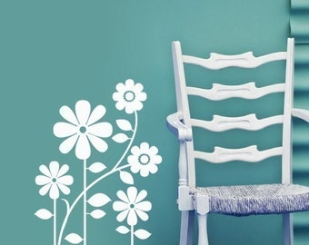 Cute Modern Flower Patch Vinyl Lettering Decal by Decomod Walls 22X12