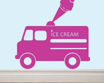 ICE CREAM TRUCK Vinyl Wall Decal Sticker Original Graphics by DECOmod Walls