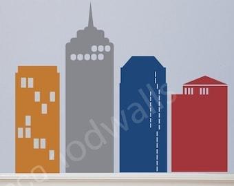City Stuff Sky Scraper Kit - Vinyl LEttering Wall Decals Original Graphics by DecoMOD Walls