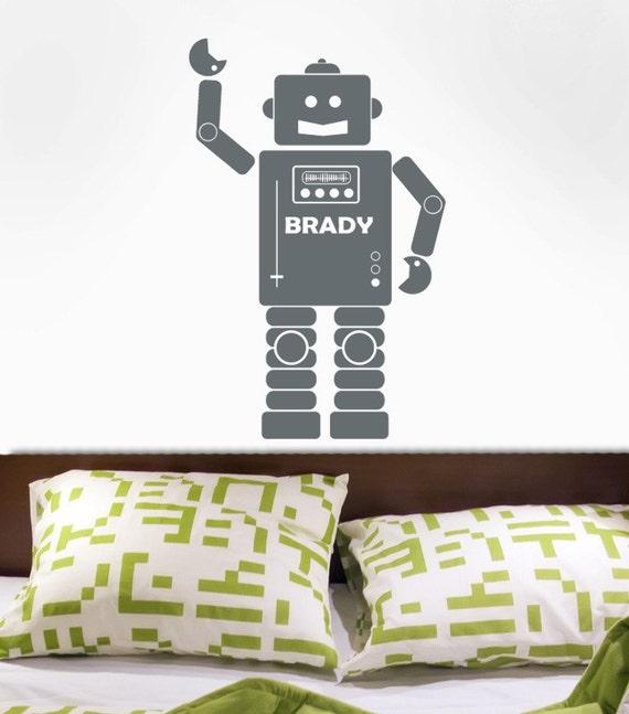 Robot Custom Name Decal Original Graphic by DecoMod Walls