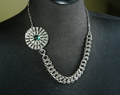 Isolde - Vintage Upcycled Celtic Chainmaille Assemblage Necklace OOAK