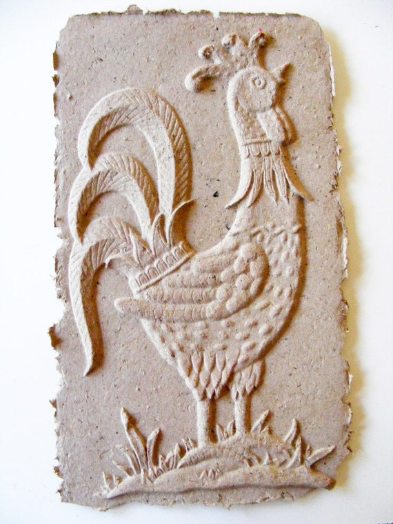 Rooster Handmade Paper Cast