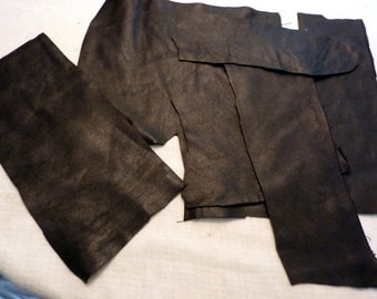 Black Leather Scraps Destash