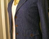 Size 12 Vintage Koret City Blues Denim Blazer