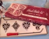 ON SALE Vintage Handi Hostess Bridge Set Molds