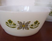 Vintage Fire King Green Meadow, Set of 4 Bowls