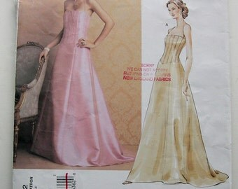 Vogue 2732 Evening Gown pattern BADGLEY MISCHKA Size 6-8-10 uncut OOP Formal Dress