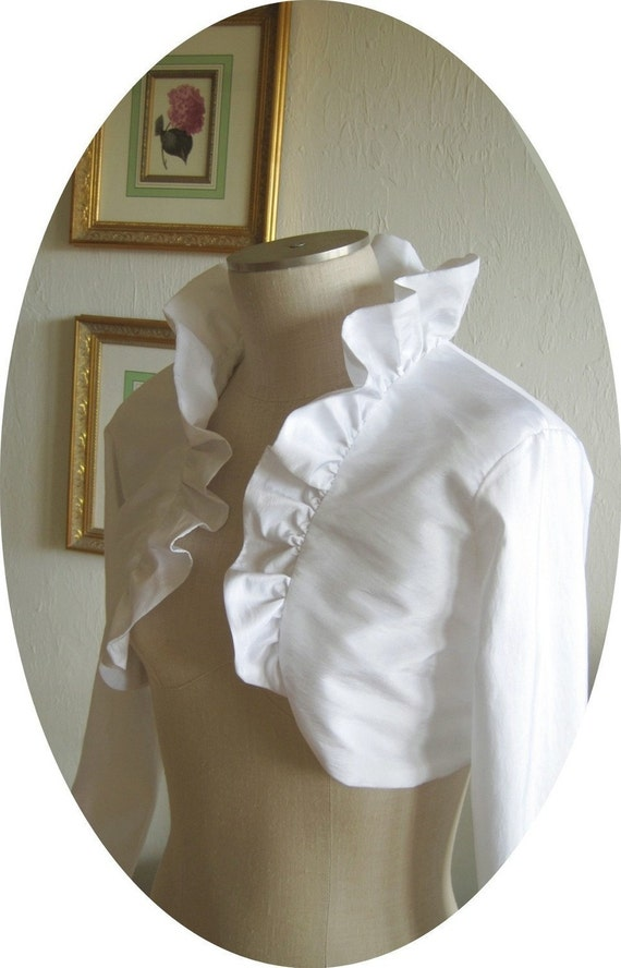 Reserved for Jillianjade1 - Basilica Bridal Bolero - Long Sleeved, Ivory, small