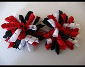 FREE Headband When You Buy Any Three Listings --- Lovely Ladybug Korker Bows