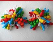 FREE Headband When You Buy Any Three Listings --- Rainbow Bright Korker Bows