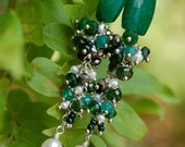 Christmas Sale- 15% off- The  Emerald Isle Earrings
