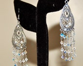 RESERVED CUSTOM LISTING- Modern Girl Collection Swarovski Chandelier Earrings