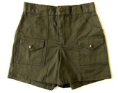 Olive Green Boy Scout High Waisted Shorts XS