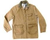 Vtg Duxbak Heavy Duck Canvas Tan Jacket Flanel Lined Mens  small medium