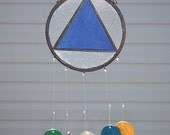 AA Recovery Wind Chime  (Stained Glass)