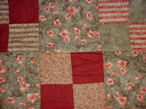 Twin size Quilt 4-patch Design 1/2 price   SALE  51