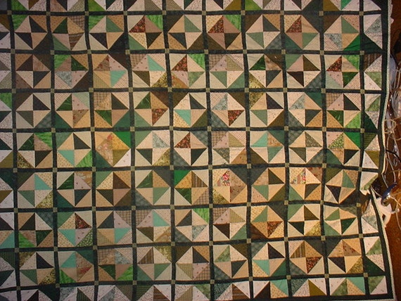 24. Quilt green Triangles