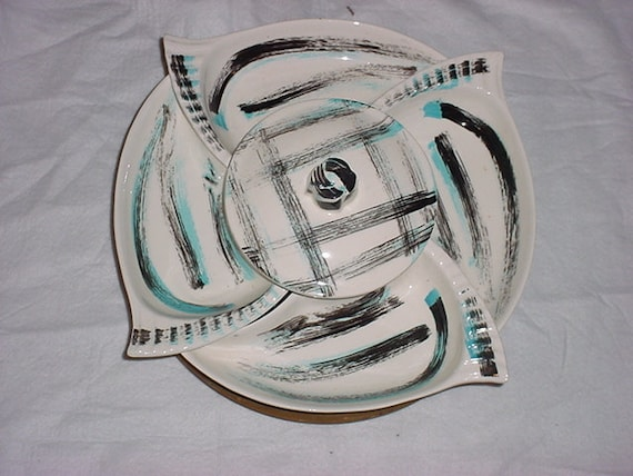 California Pottery Chip and Dip Server Lazy suzan set SALE