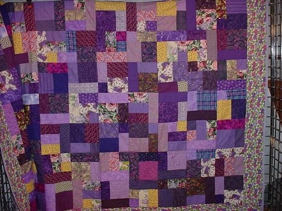 King Size Quilt  Purple passion  2