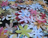 Punched Paper Flowers.. Scrapbooking.. 50 PLUS A PINCH.. 1.00 dollar listing