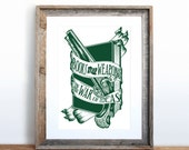 Books are Weapons in the War of Ideas Screenprint 12 x 19 in Pick your color