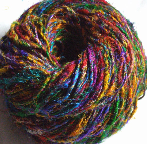 Istanbul Bazaar - Recycled Silk Sari Yarn - 165 yds, Sport weight, Single Ply
